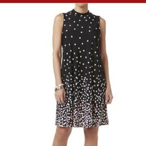 Tiana B. Mockneck Polka Dot Shift Dress 2XL